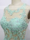 Scoop Neck Appliques Lace Open Back A-line Sage Chiffon Prom Dress #LDB020100565