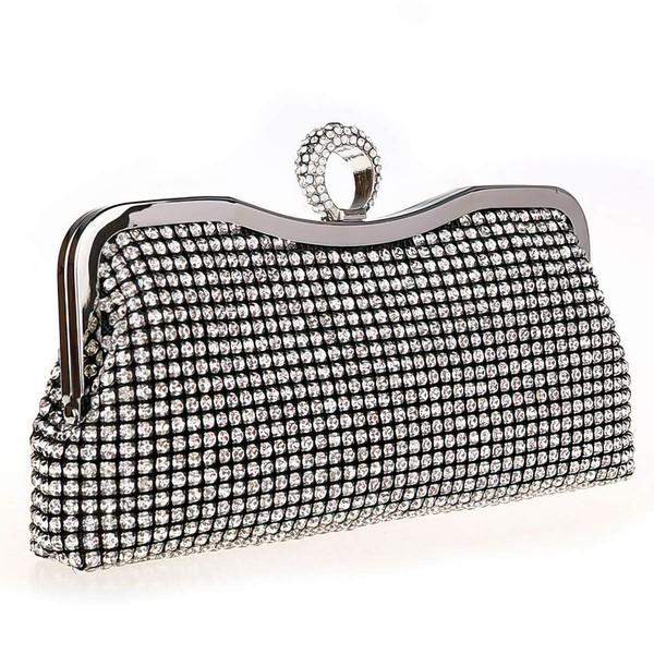 Silver Crystal/ Rhinestone Wedding Crystal/ Rhinestone Handbags #LDB03160001