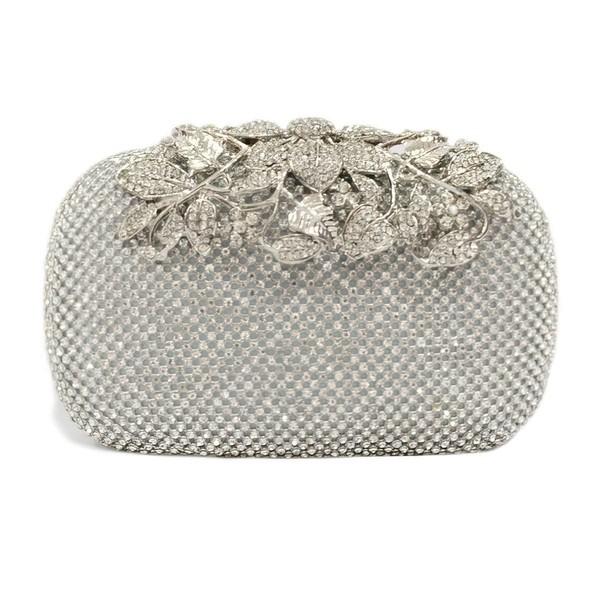 Silver Crystal/ Rhinestone Wedding Flower Handbags