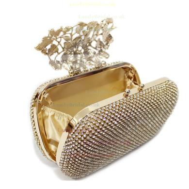 Silver Crystal/ Rhinestone Wedding Flower Handbags #LDB03160003
