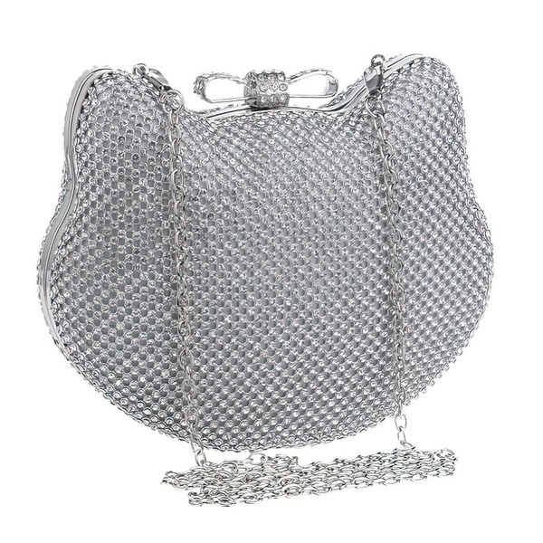 Silver Crystal/ Rhinestone Ceremony&Party Crystal/ Rhinestone Handbags #LDB03160006
