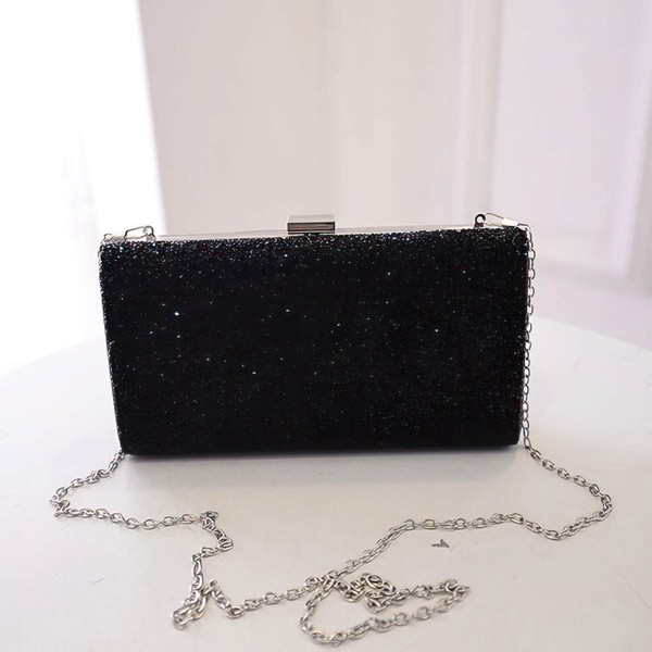 Black Shiny Material Ceremony&Party Sequin Handbags