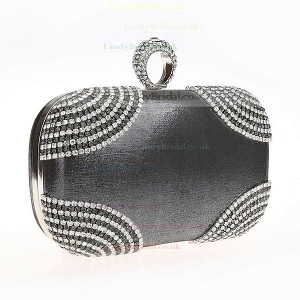 Silver Polyester Ceremony&Party Crystal/ Rhinestone Handbags