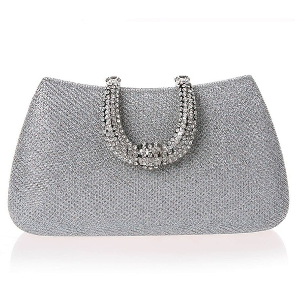 Black PU Ceremony&Party Crystal/ Rhinestone Handbags #LDB03160010