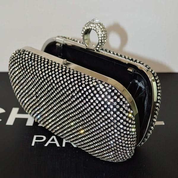 Silver Crystal/ Rhinestone Wedding Rhinestone Handbags