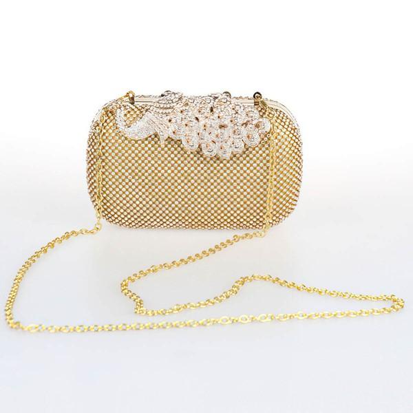 Silver Rhinestone Ceremony&Party Crystal/ Rhinestone Handbags