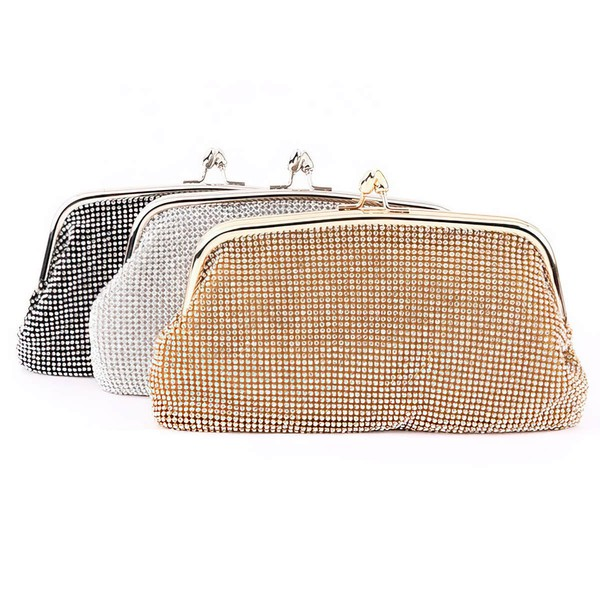 Silver Rhinestone Wedding Crystal/ Rhinestone Handbags
