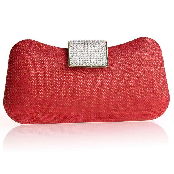 Black Satin Ceremony&Party Crystal/ Rhinestone Handbags