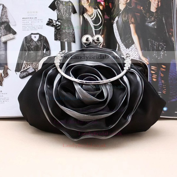 Black Silk Wedding Metal Handbags