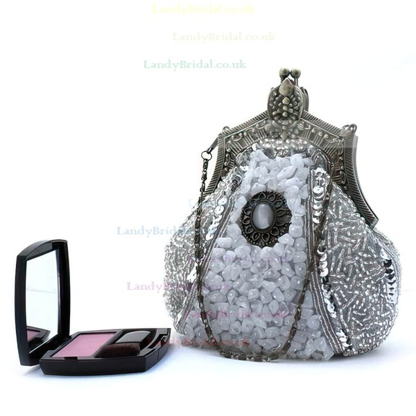 Black Pearl Ceremony&Party Metal Handbags