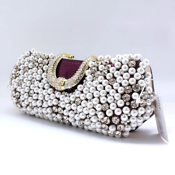 Black Pearl Wedding Rhinestone Handbags