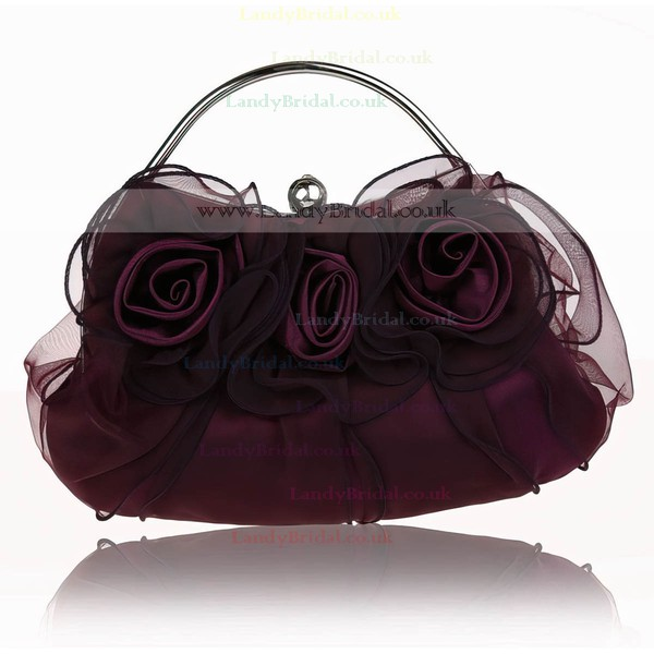 Black Silk Ceremony&Party Metal Handbags