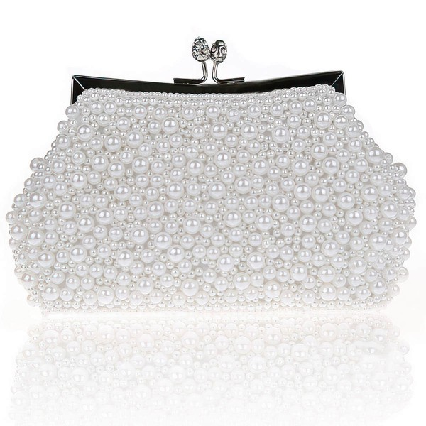 Black Imitation Pearl Wedding Imitation Pearl Handbags