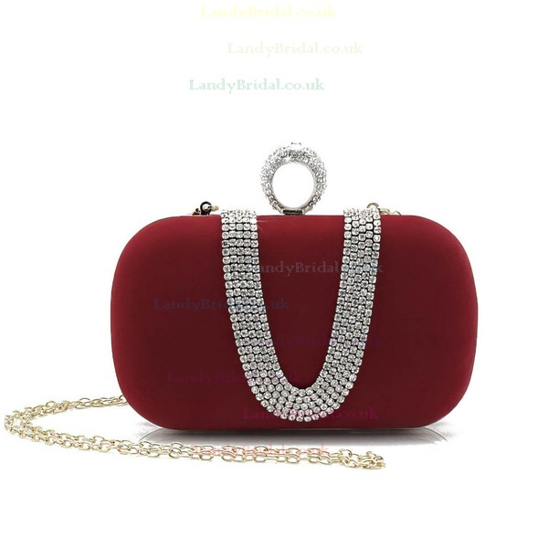 Black Velvet Wedding Crystal/ Rhinestone Handbags