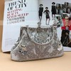 Silver Satin Ceremony&Party Imitation Pearl Handbags #LDB03160036