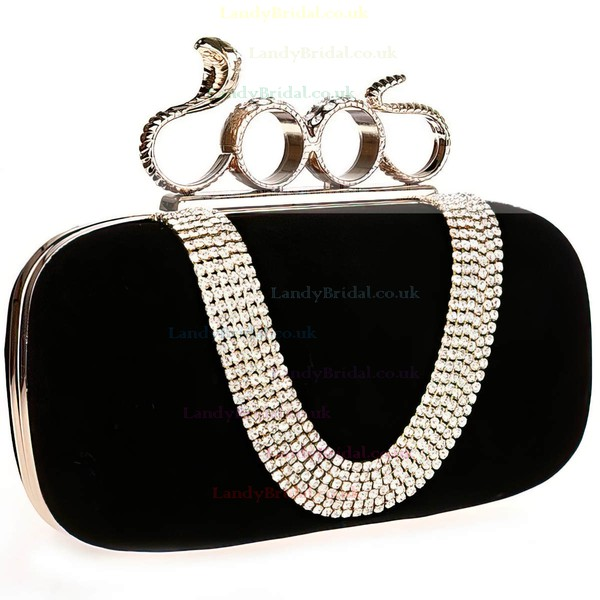 Black Velvet Ceremony&Party Crystal/ Rhinestone Handbags