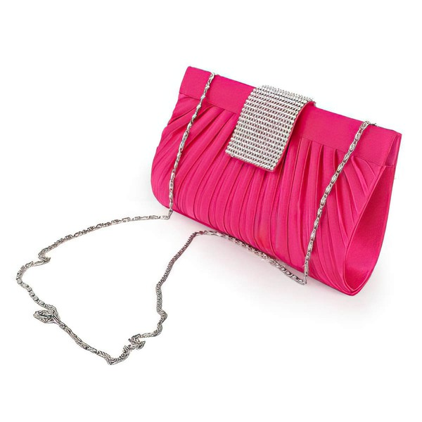 Fuchsia Silk Wedding Ruffles Handbags