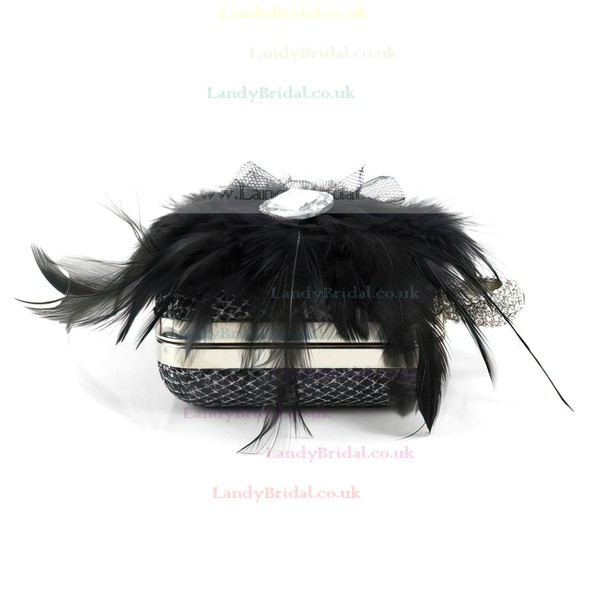 Black Metal Wedding Crystal/ Rhinestone Handbags