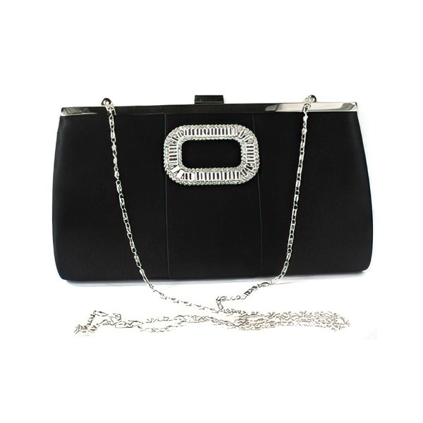 Black Silk Ceremony&Party Crystal/ Rhinestone Handbags #LDB03160050