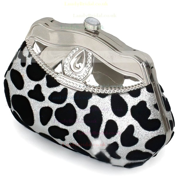 Silver Metal Wedding Beading Handbags