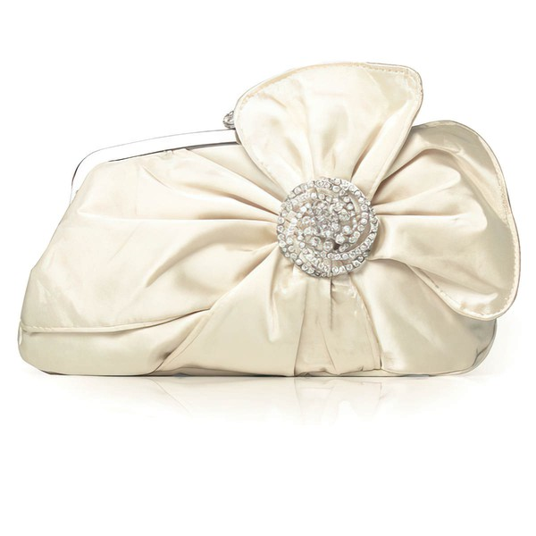 Silver Silk Wedding Crystal/ Rhinestone Handbags #LDB03160058
