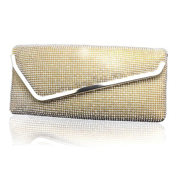 Gold Metal Office&Career Crystal/ Rhinestone Handbags