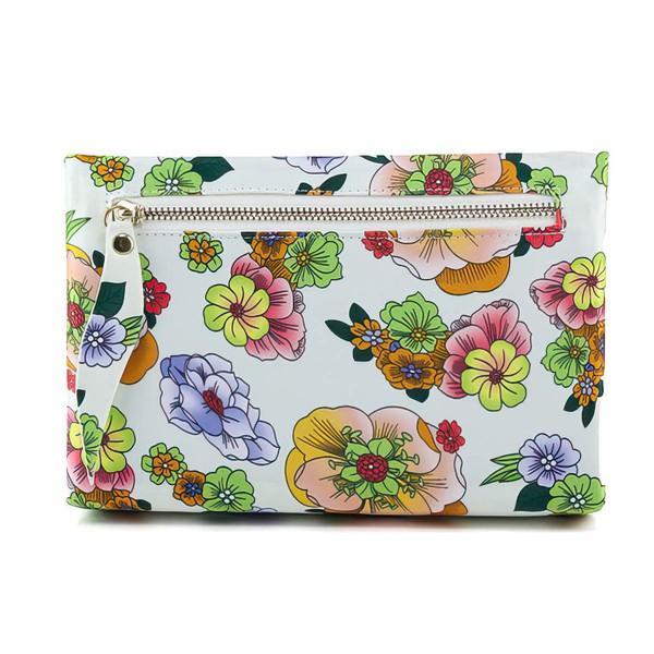Black PU Ceremony&Party Floral Print Handbags