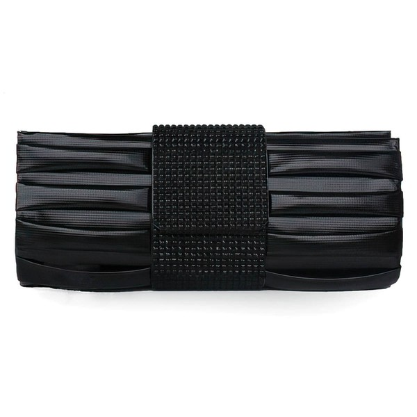 Black PU Ceremony&Party Crystal/ Rhinestone Handbags #LDB03160073