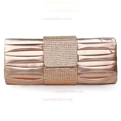Black PU Ceremony&Party Crystal/ Rhinestone Handbags #LDB03160073