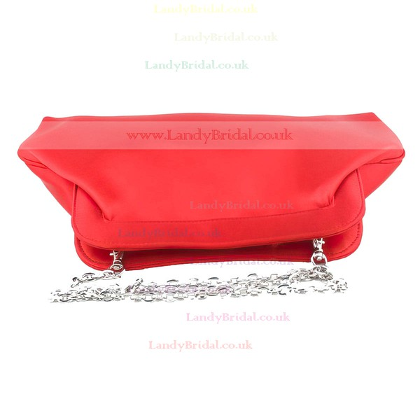 Red Silk Wedding Flower Handbags