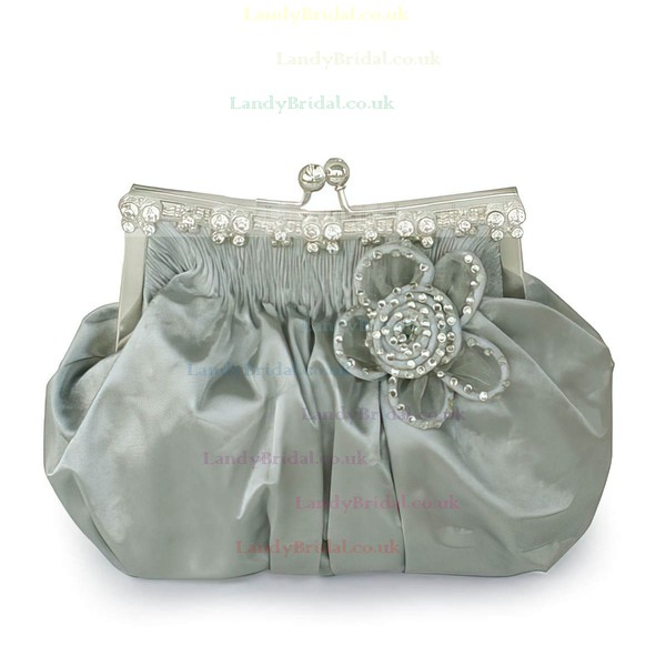 Black Silk Ceremony&Party Flower Handbags