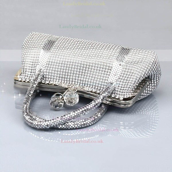 Silver Metal Ceremony&Party Crystal/ Rhinestone Handbags