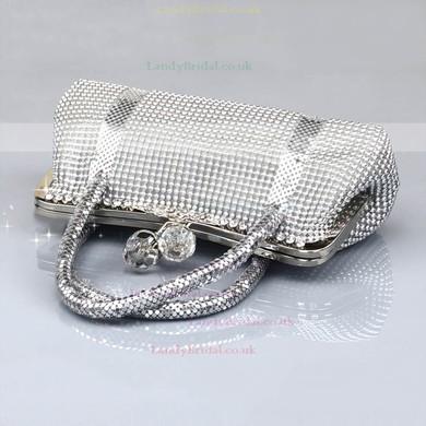 Silver Metal Ceremony&Party Crystal/ Rhinestone Handbags #LDB03160080