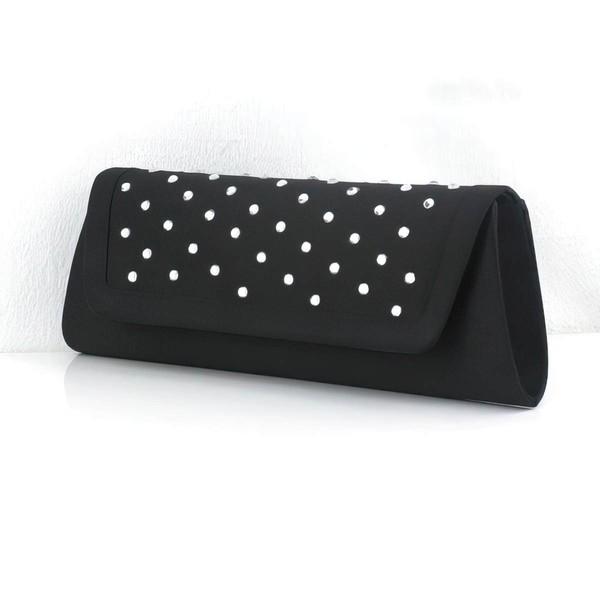 Black PU Ceremony&Party Crystal/ Rhinestone Handbags