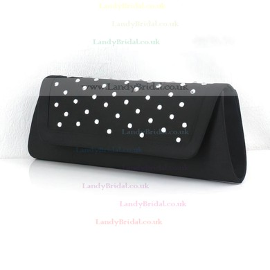 Black PU Ceremony&Party Crystal/ Rhinestone Handbags #LDB03160082