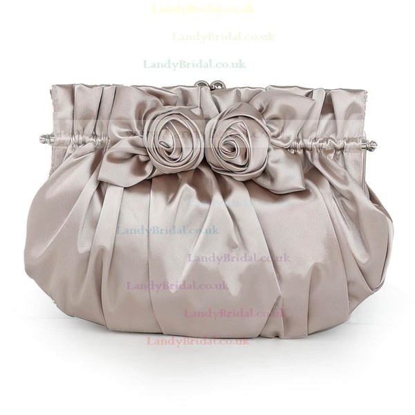 Burgundy Silk Wedding Flower Handbags