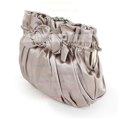 Burgundy Silk Wedding Flower Handbags #LDB03160083