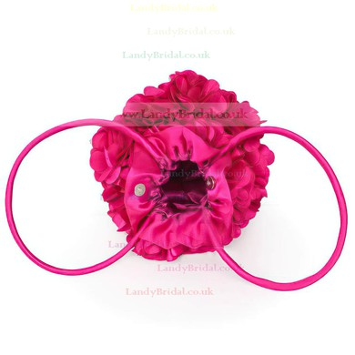 Black Silk Wedding Flower Handbags #LDB03160084