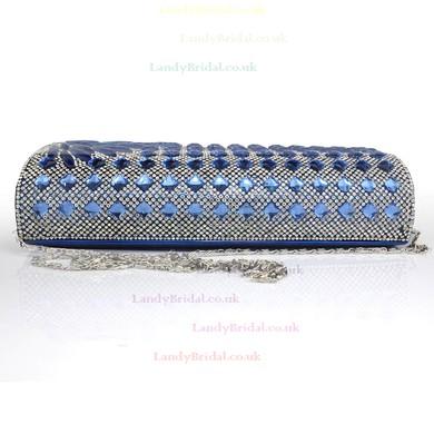 Black PU Ceremony&Party Crystal/ Rhinestone Handbags #LDB03160087