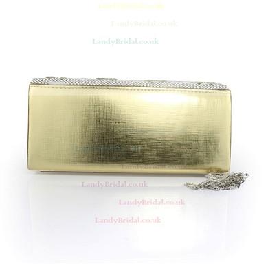 Black PU Wedding Crystal/ Rhinestone Handbags #LDB03160091
