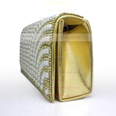 Black PU Wedding Crystal/ Rhinestone Handbags #LDB03160092