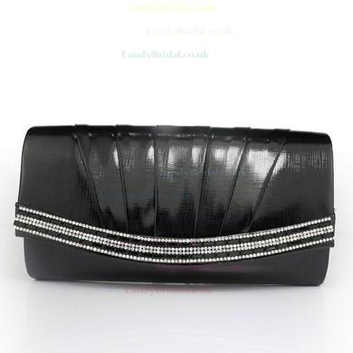 Black PU Wedding Crystal/ Rhinestone Handbags #LDB03160094