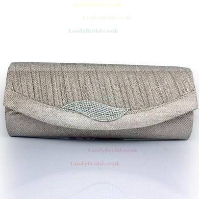 Black Silk Wedding Crystal/ Rhinestone Handbags #LDB03160095