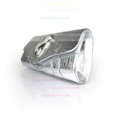 Black PU Wedding Crystal/ Rhinestone Handbags #LDB03160096