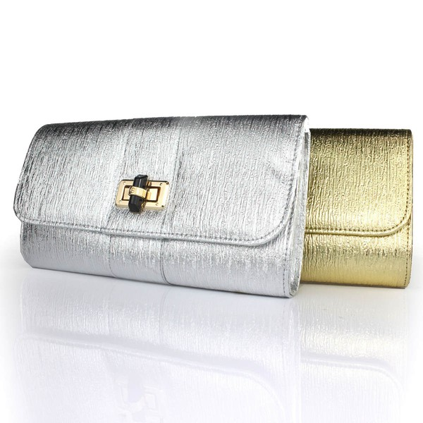 Silver PU Ceremony&Party Metal Handbags #LDB03160097