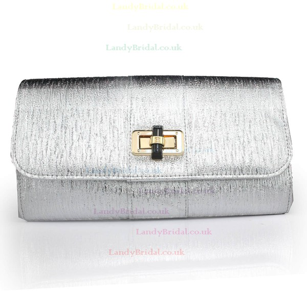 Silver PU Ceremony&Party Metal Handbags
