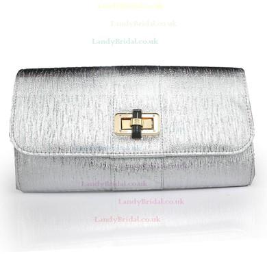 Silver PU Ceremony&Party Metal Handbags #LDB03160097