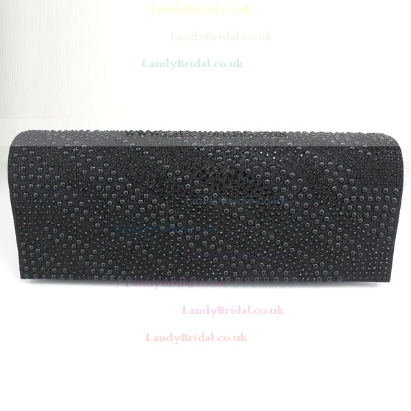 Black PU Wedding Imitation Pearl Handbags