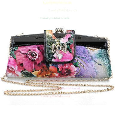 Black Silk Ceremony&Party Crystal/ Rhinestone Handbags #LDB03160099