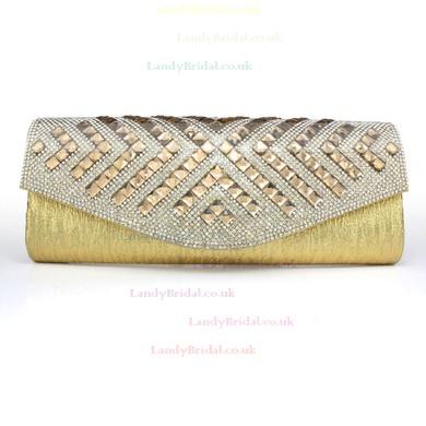 Black Silk Ceremony&Party Crystal/ Rhinestone Handbags #LDB03160100